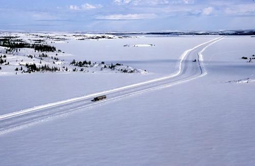 Canadian Ice Road to Diavik Diamond Mine