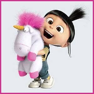 Agnes finds a unicorn, the Minions Movie Amazon.com