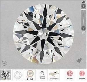 Light Dark Diamond Crystals