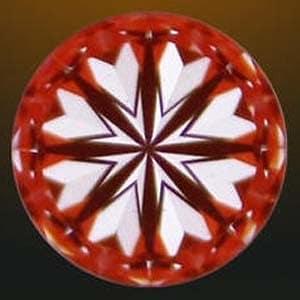 Hearts pattern exhibited by Brian Gavin Signature diamond.