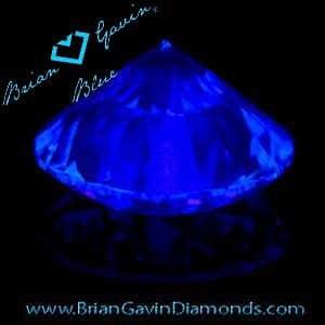 Brian Gavin Blue Fluorescent Diamond, AGS #104064812016