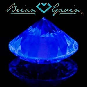 Brian Gavin Blue Fluorescent Diamond, AGS #104064812030