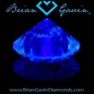 Blue Fluorescent Diamond from the Brian Gavin Blue collection