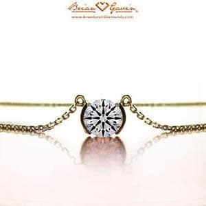 Half Bezel Diamond Pendant from Brian Gavin