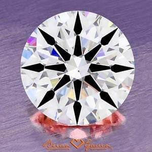 Brian Gavin Signature Hearts & Arrows Diamond, AGS# 104064813013