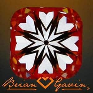 Hearts Arrows Cushion Cut Diamond from Brian Gavin