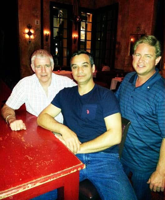 Garry Holloway and Andrew Pilipchak of PriceScope with Todd Gray of Nice Ice Diamonds.