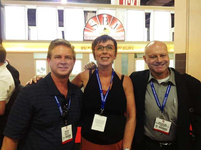 Todd Gray, Lieve Peters, and John Pollard from Crafted by Infinity.