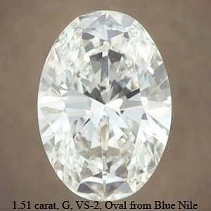 Blue Nile Oval Brilliant Cut Diamond, GIA #2146464915
