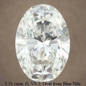 Blue Nile Oval Brilliant Cut Diamond, GIA #2146464915
