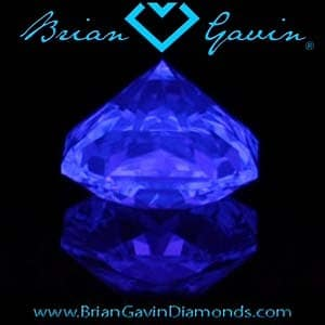 Brian Gavin Blue Cushion Cut Diamond, AGS #104065157009