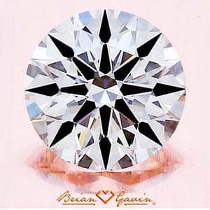 Brian Gavin Hearts & Arrows Diamond, AGS #104060322039