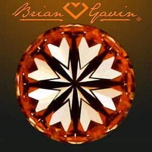 Brian Gavin Signature Diamond, AGS #104060322039 Hearts & Arrows Diamond