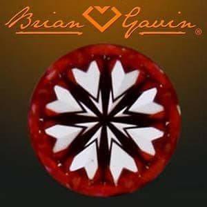 Hearts pattern, Brian Gavin Signature Diamond, AGS #104063255078