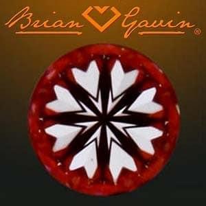 Hearts pattern, Brian Gavin Signature Diamond, AGS #104063255078