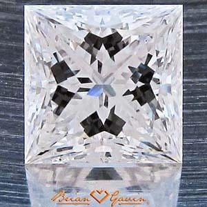Signature Princess Cut Diamond from Brian Gavin, AGS #104046849018