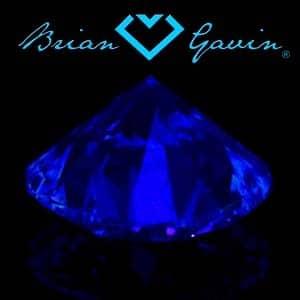 Brian Gavin Blue Fluorescent Diamond, AGS #104064812028