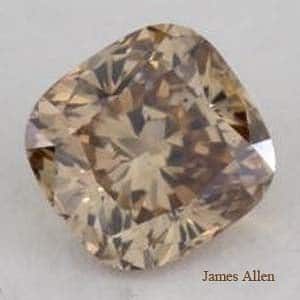 Fancy Yellowish Brown Cushion Cut Diamond from James Allen