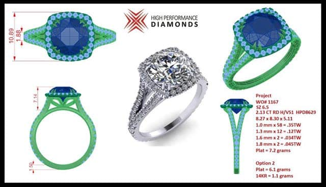 High Performance Diamonds custom jewelry engagement rings