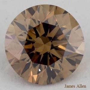 Fancy brown color diamond from James Allen