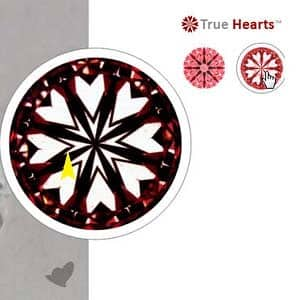Hearts pattern for James Allen True Hearts Diamond