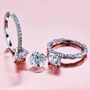Brian Gavin Signature Cushion Cut Diamond Rings