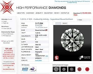 Crafted by Infinity Hearts and Arrows Diamond, AGS #104063757001
