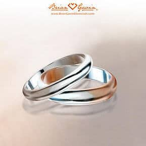 Traditional half round style wedding bands from Brian Gavin