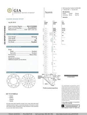 Round Brilliant Ideal Cut Diamond from Blue Nile, GIA #6131624820