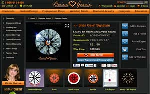 Diamond details page for Brian Gavin Signature diamond, AGS 104066186018