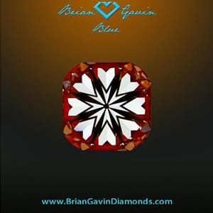 Hearts and Arrows Cushion Cut Diamond, Brian Gavin Signature AGSL 104065157009