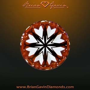 Hearts and Arrows diamond from Brian Gavin, AGSL 104061069039