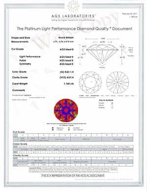 James Allen Round Brilliant Ideal Cut Diamond, SKU 73618