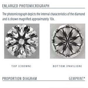 Clarity picture Blue Nile Signature Diamond LD03110581