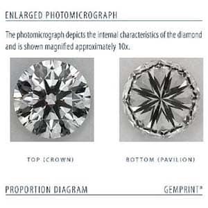 Clarity image for Blue Nile Signature Diamond LD03765094