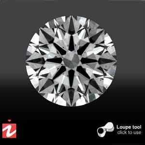 Diamond clarity photograph, Crafted by Infinity Diamond AGSL 104059209001