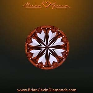 Hearts and Arrows pattern within Brian Gavin Signature Diamond, AGSL 104064831012