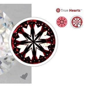 Hearts pattern within James Allen True Hearts Diamond, SKU 261466