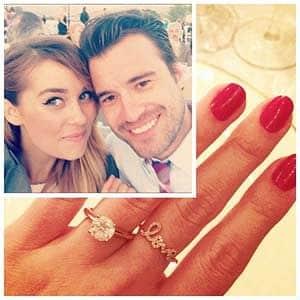 Lauren Conrad's diamond solitaire engagement ring from William Tell 2013