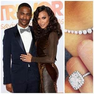 Naya Rivera Cushion Cut Diamond Engagement Ring from Big Sean 2013