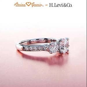 Queen Dinah 3 Stone Pave setting from Brian Gavin Diamonds