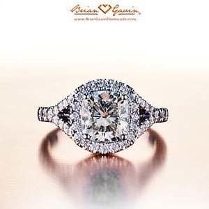 Split halo diamond engagement ring from Brian Gavin Diamonds
