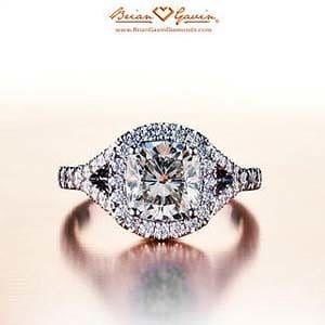 Split halo diamond engagement ring from Brian Gavin Diamonds