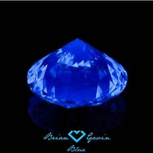 Strong blue fluorescence in h color diamond, Brian Gavin Blue, AGSL 104052029007