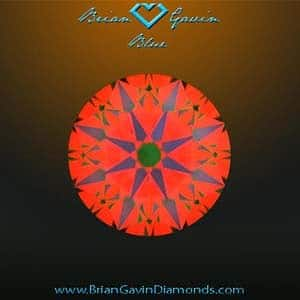 What do the different colors of an ASET mean? Brian Gavin Diamond with medium blue fluorescence, AGSL 104055121006