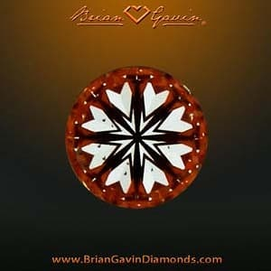 Brian Gavin Signature Hearts and Arrows round brilliant ideal cut diamond, AGSL 104064191008