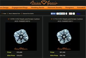 Brian Gavin Signature Cushion cut diamond stud earrings