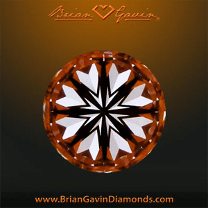 Brian Gavin Signature round hearts and arrows diamond, AGSL 104067043010