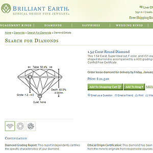 Brilliant Earth Ideal Cut Diamond Review, AGSL 104046231005