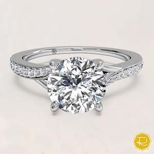 Ritani Engagement Rings. Bypass Micropave engagement ring 4562 by Ritani